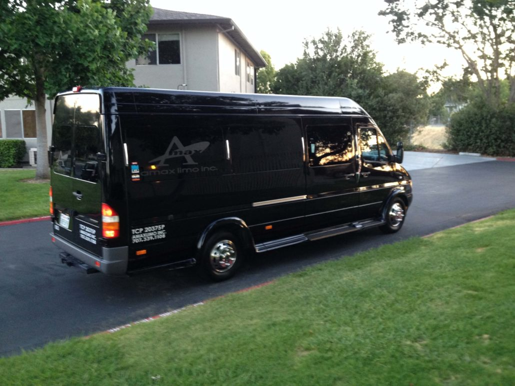 Mercedes benz sprinter 12 passenger limousine amax limo for Mercedes benz sprinter passenger